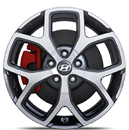 18 inch alloy wheel of i30N standard trim.