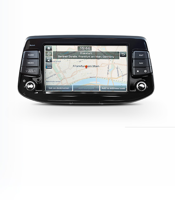 Closer view of navigation system.
