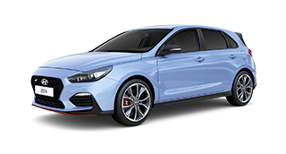 quarter view of blue all-new i30